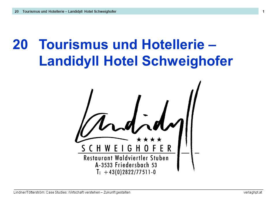 Lindner/Tötterström: Case Studies: Wirtschaft verstehen – Zukunft gestalten verlaghpt.at 1 Tourismus und Hotellerie – Landidyll Hotel Schweighofer 20