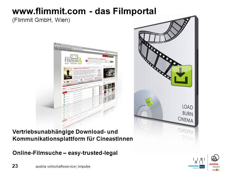 23 austria wirtschaftsservice | impulse www.flimmit.com - das Filmportal (Flimmit GmbH, Wien) Vertriebsunabhängige Download- und Kommunikationsplattfo