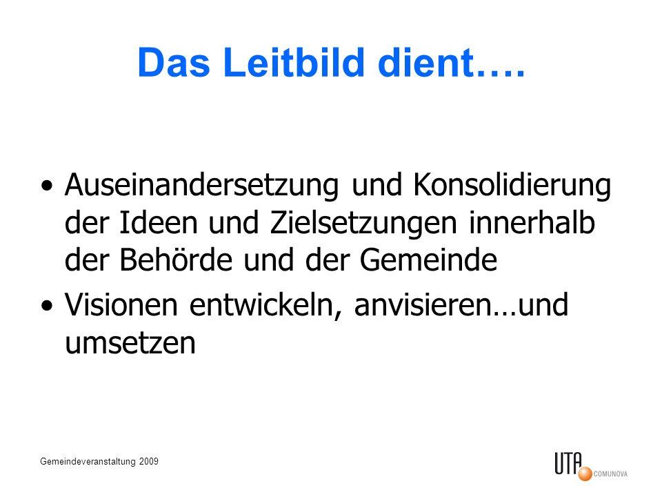 Gemeindeveranstaltung 2009 Das Leitbild dient….
