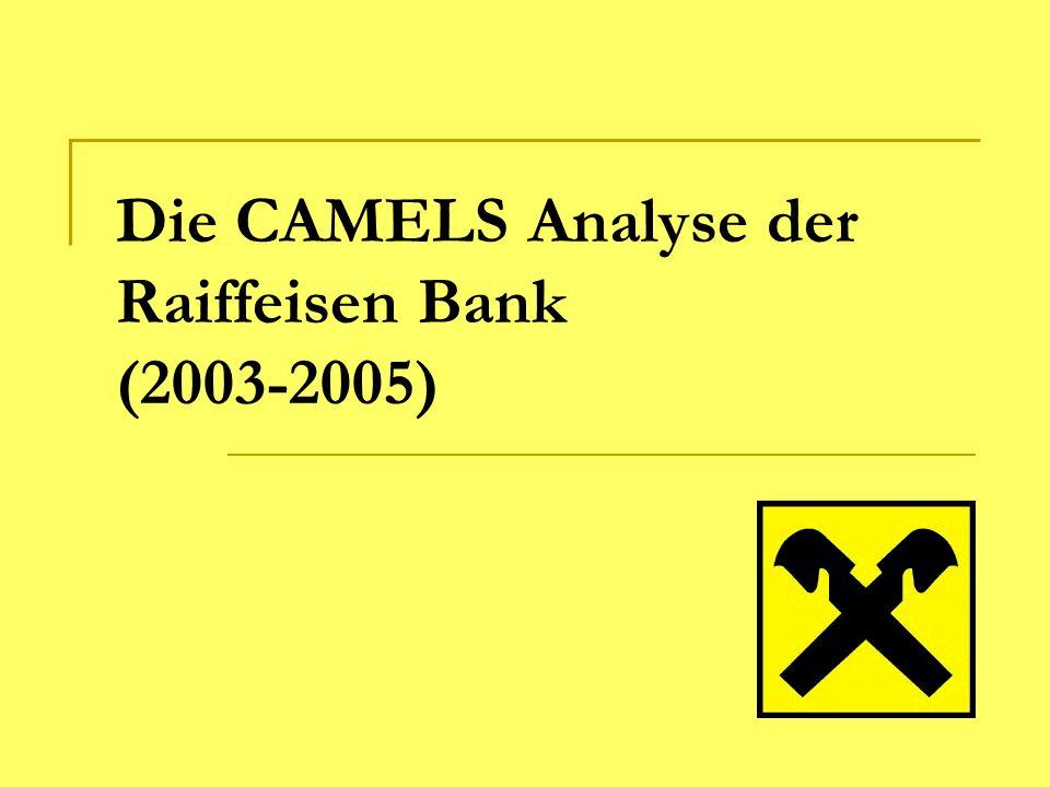 Die CAMELS Analyse der Raiffeisen Bank (2003-2005)