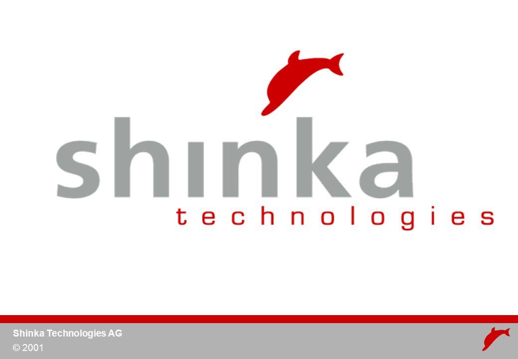 Shinka Technologies AG © 2001 Audit Logs HTTPS/SSL Standard HTTP Firewall ACL über LDAP Audit Logs Security LDAP Directory Firewall HTTPS