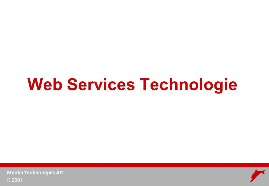 Shinka Technologies AG © 2001 Web Services Technologie