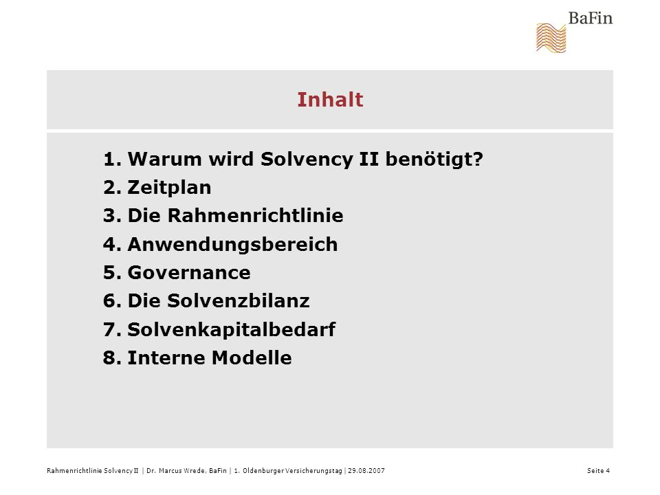1.Warum wird Solvency II benötigt.