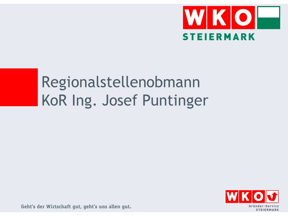 Regionalstellenobmann KoR Ing. Josef Puntinger