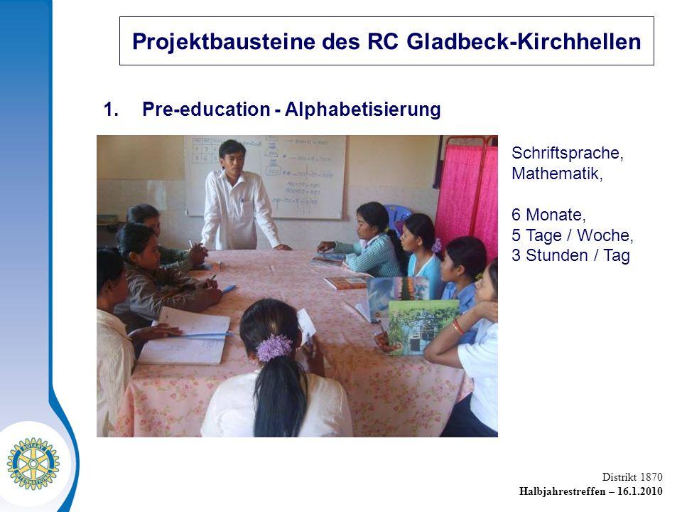 Distrikt 1870 Halbjahrestreffen – 16.1.2010 Projektbausteine des RC Gladbeck-Kirchhellen 1.