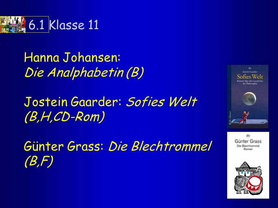 weitere AutorInnen für Kl.11: Thomas Brussig, Sonnenallee (B,F) Mats Wahl, z.B.