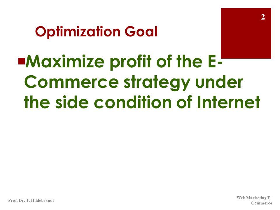 Optimierungsspirale ECC-Handel Okt.2009Prof. Dr. T.