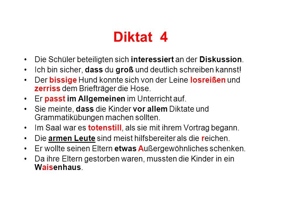 Diktat 5 Für das Erlernen einer Fremdsprache ist oftmaliges Wiederholen der Vokabeln wichtig.