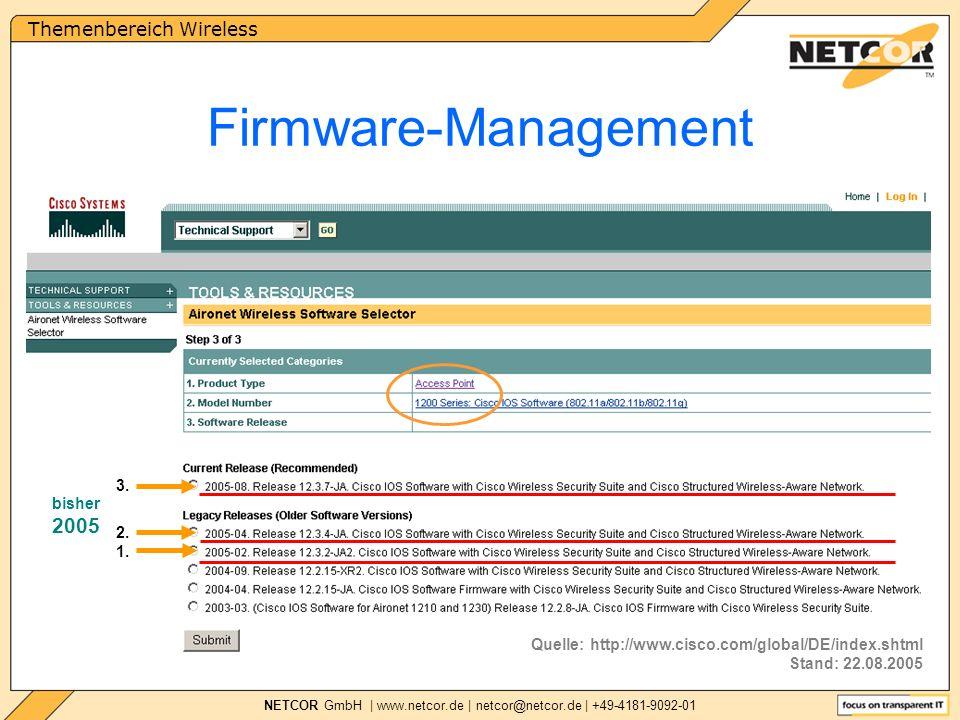Themenbereich Wireless NETCOR GmbH | www.netcor.de | netcor@netcor.de | +49-4181-9092-01 1.