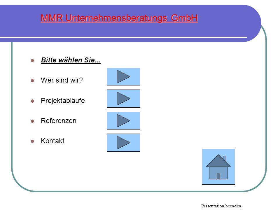 MMR Unternehmensberatungs GmbH Pirnaer Landstraße 24 01833 Stolpen Tel.: 035973-224-18 od.: 0172-3539382 Fax: 035973-224-17 od.: 0403603133953 E-Mail: mmrgmbh@aol.com