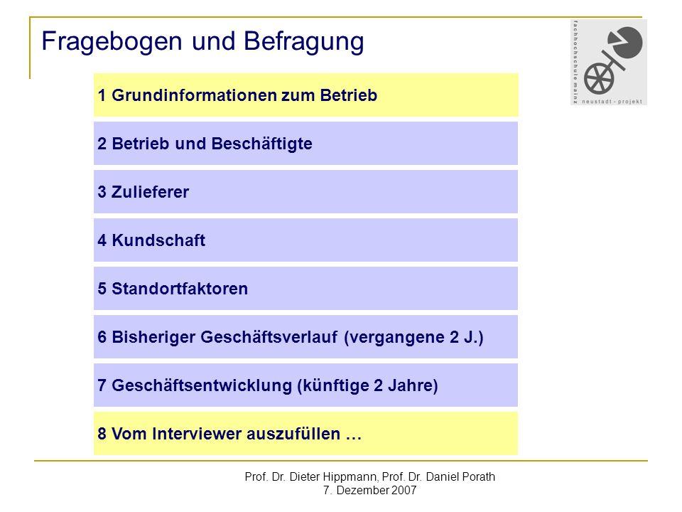 Prof.Dr. Dieter Hippmann, Prof. Dr. Daniel Porath 7.