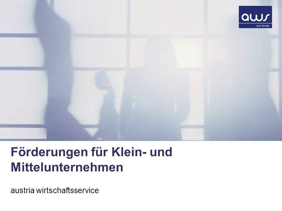 Förderungen für Klein- und Mittelunternehmen austria wirtschaftsservice