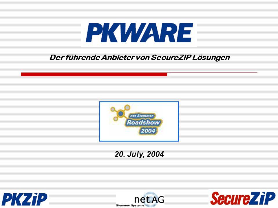 Der führende Anbieter von SecureZIP Lösungen 20. July, 2004