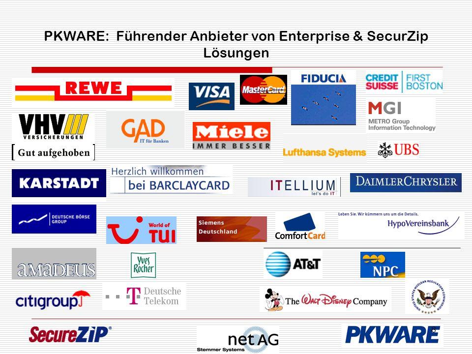 8 PKWARE: Führender Anbieter von Enterprise & SecurZip Lösungen