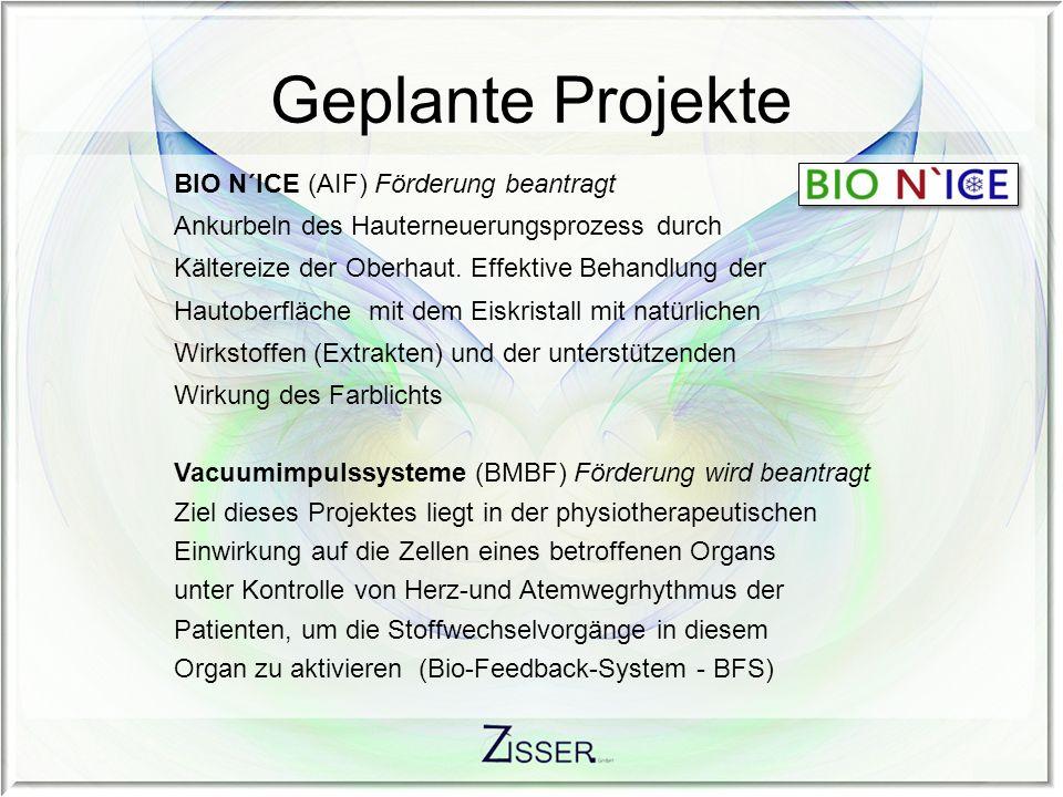 Laufende Projekte Nasenatemschutzfiltersysteme Die Zisser GmbH arbeitet an der Entwicklung und Prototypfertigung eines neuartigen, in der Nase zu tragenden Nasenfilters, der den Nasen- Rachenraum des gesunden Menschen gegen Partikel unterschiedlicher Konsistenz durch Absorption schützt.