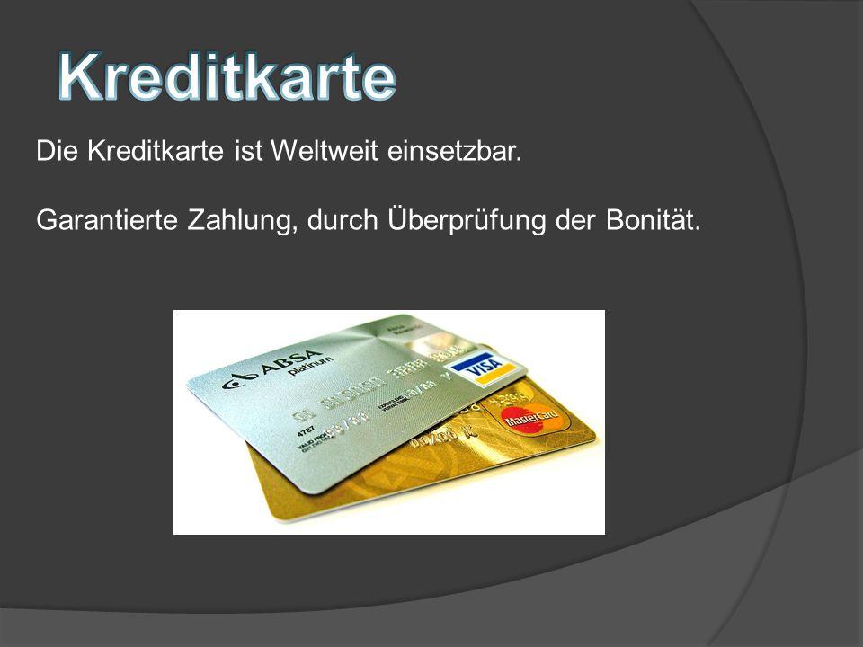 Magnetstreifen Kartennummer, das Verfallsdatum sowie eine Prüfziffer Zusätzlich: Für Bezahlung über Internet und Telefon Chip
