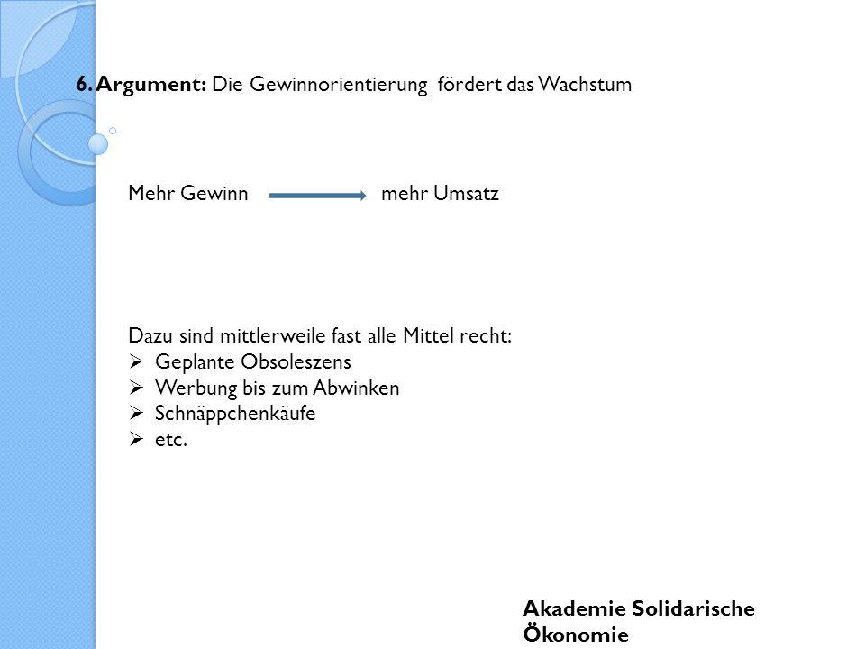 Akademie Solidarische Ökonomie 6.