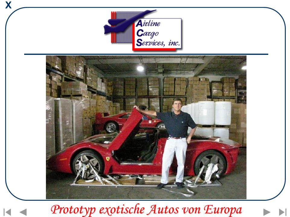 X Prototyp exotische Autos von Europa