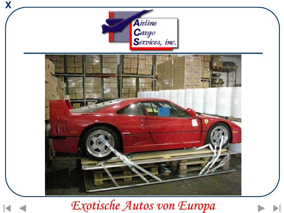 X Exotische Autos von Europa