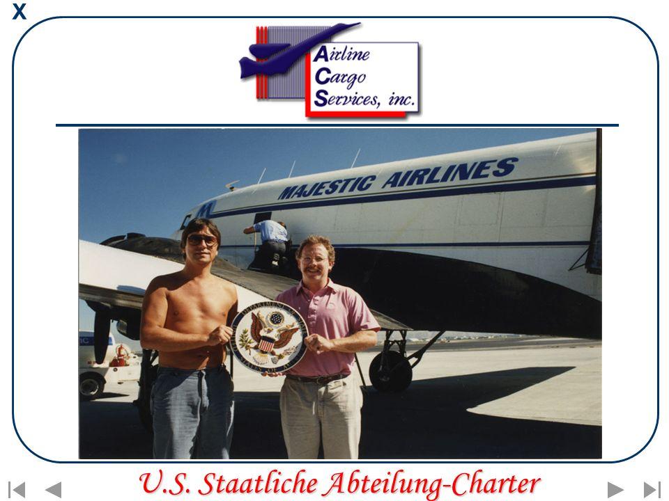 X U.S. Staatliche Abteilung-Charter