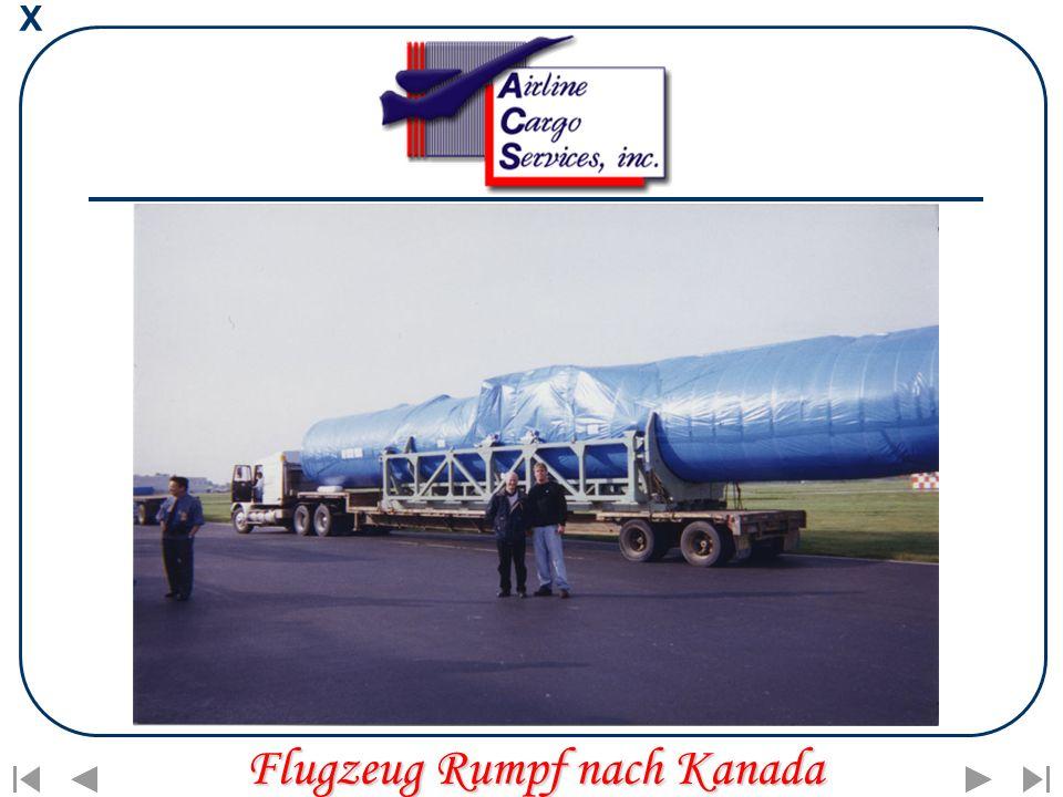 X Flugzeug Rumpf nach Kanada