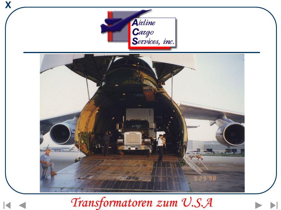 X Transformatoren zum U.S.A