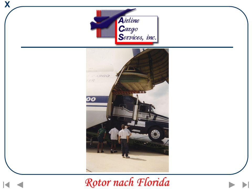 X Rotor nach Florida
