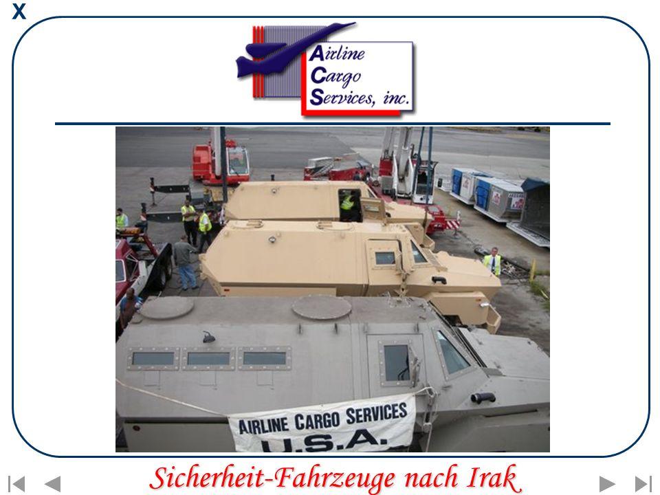 X Sicherheit-Fahrzeuge nach Irak