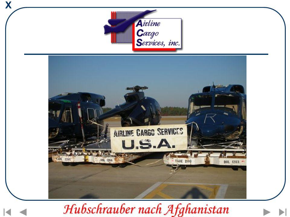X Hubschrauber nach Afghanistan