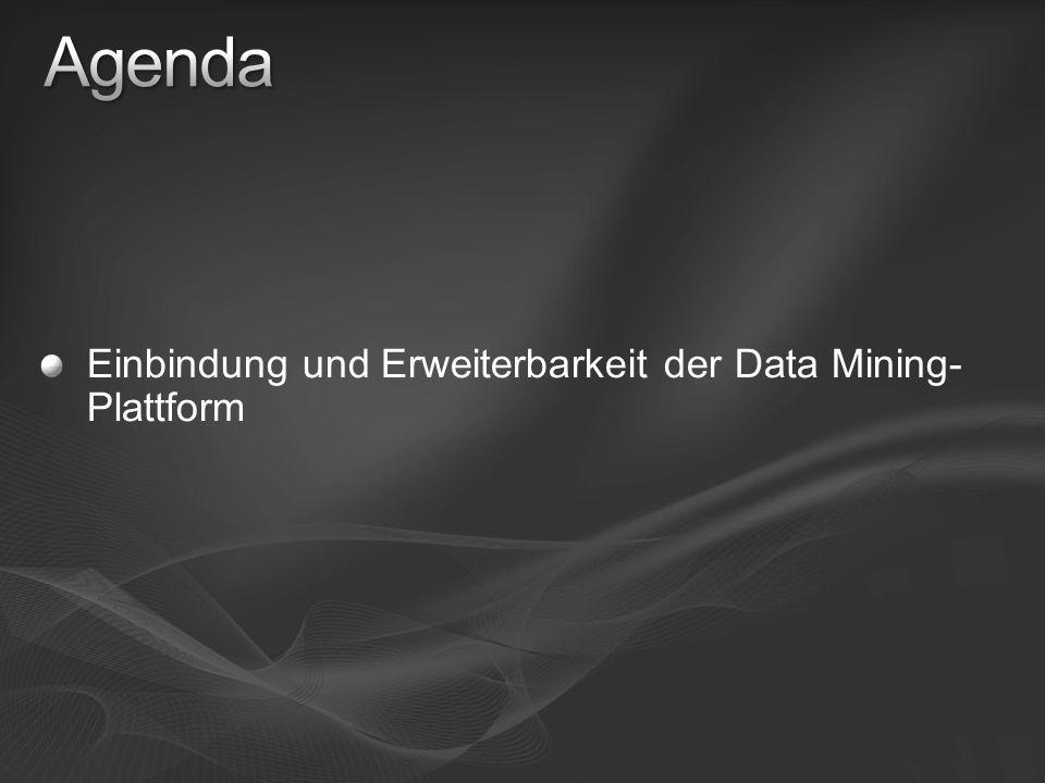 Einbindung und Erweiterbarkeit der Data Mining- Plattform