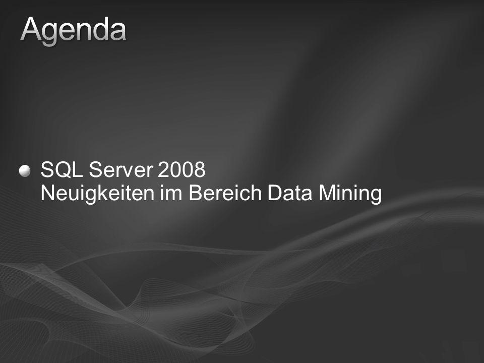 SQL Server 2008 Neuigkeiten im Bereich Data Mining