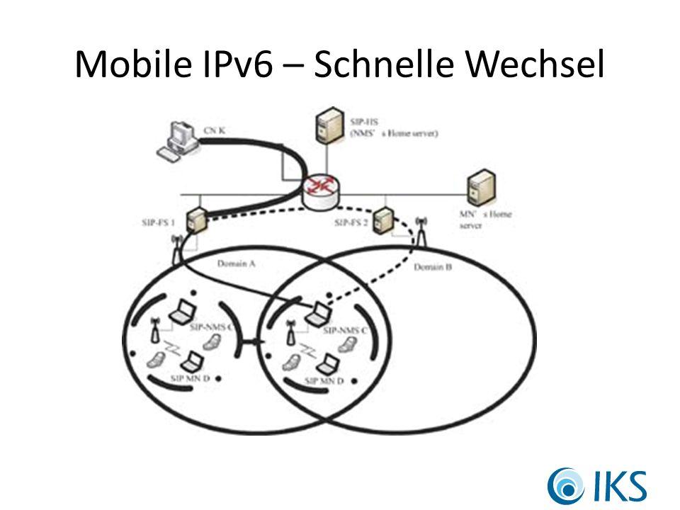 Mobile IPv6 – Schnelle Wechsel