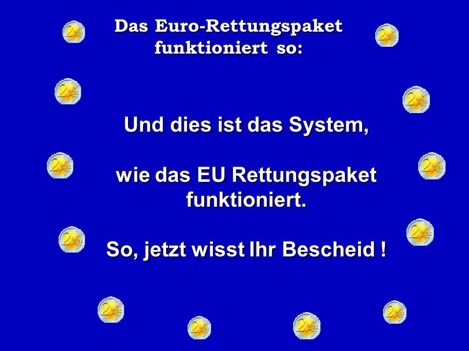 Das Euro-Rettungspaket funktioniert so: Niemand produzierte etwas.