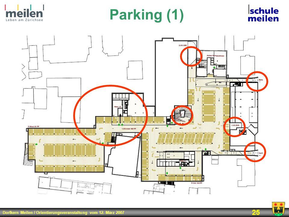 Dorfkern Meilen / Orientierungsveranstaltung vom 12. März 2007 25 Parking (1)
