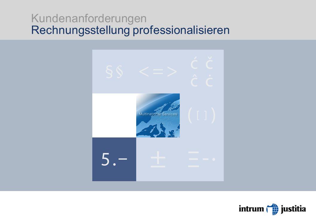 Kundenanforderungen Rechnungsstellung professionalisieren