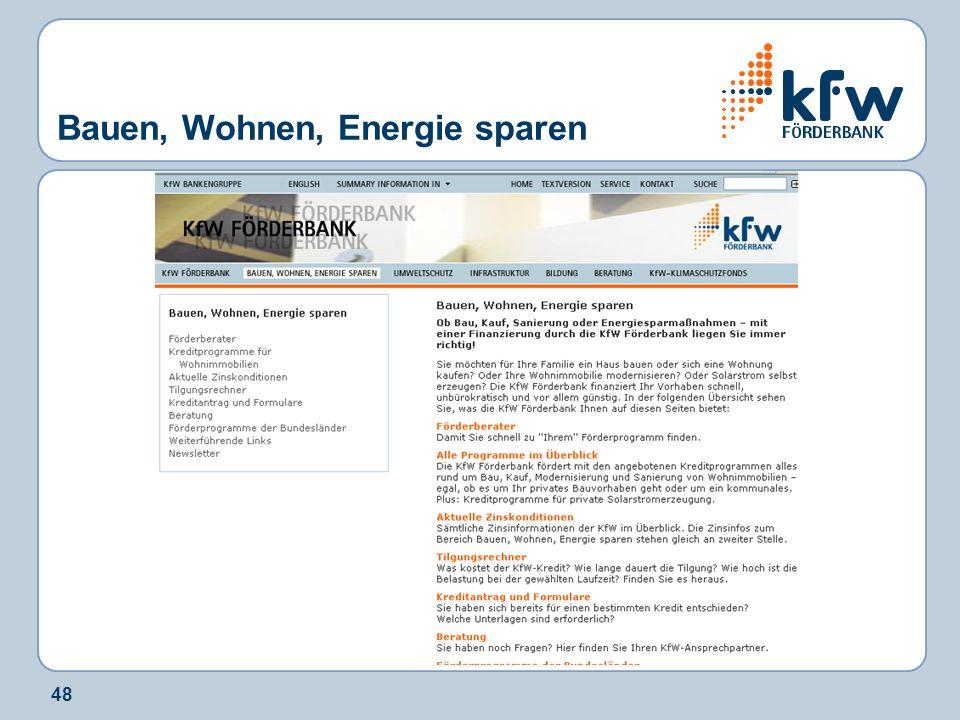 48 Bauen, Wohnen, Energie sparen