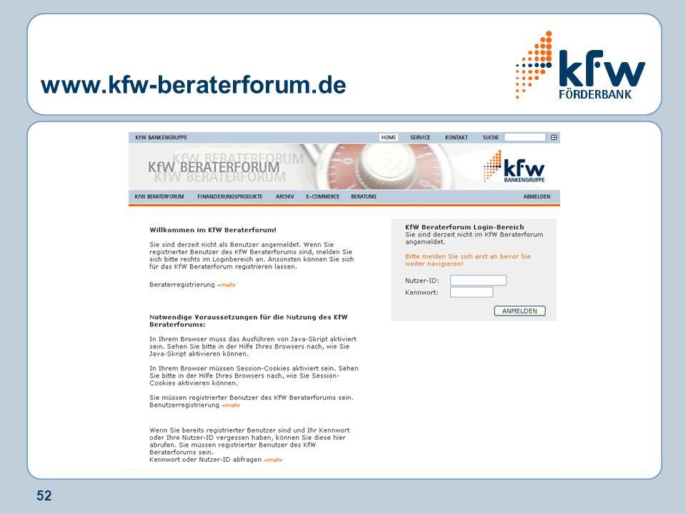 52 www.kfw-beraterforum.de
