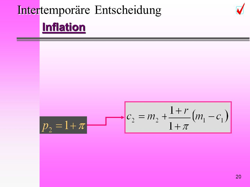 20 Intertemporäre Entscheidung Inflation
