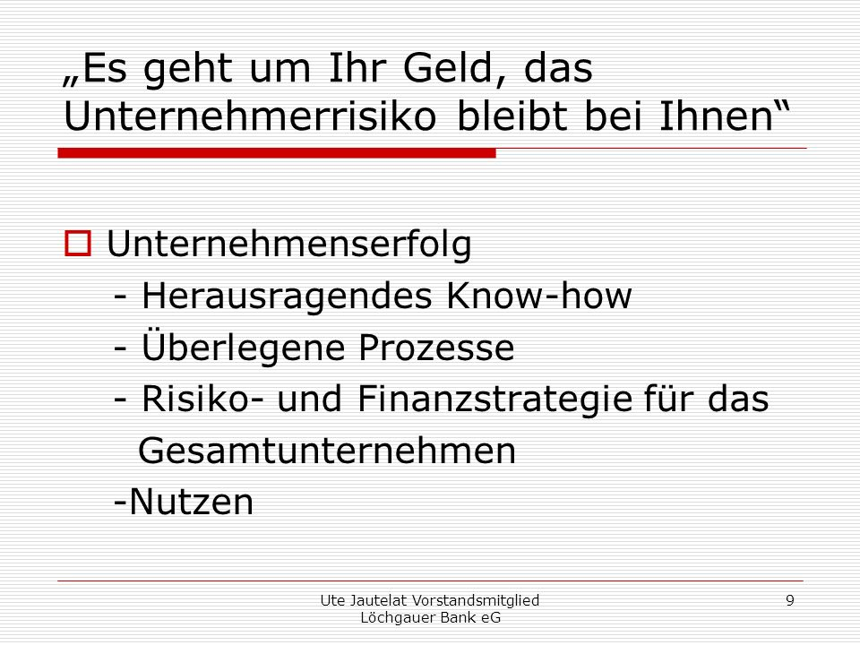 Ute Jautelat Vorstandsmitglied Löchgauer Bank eG 10