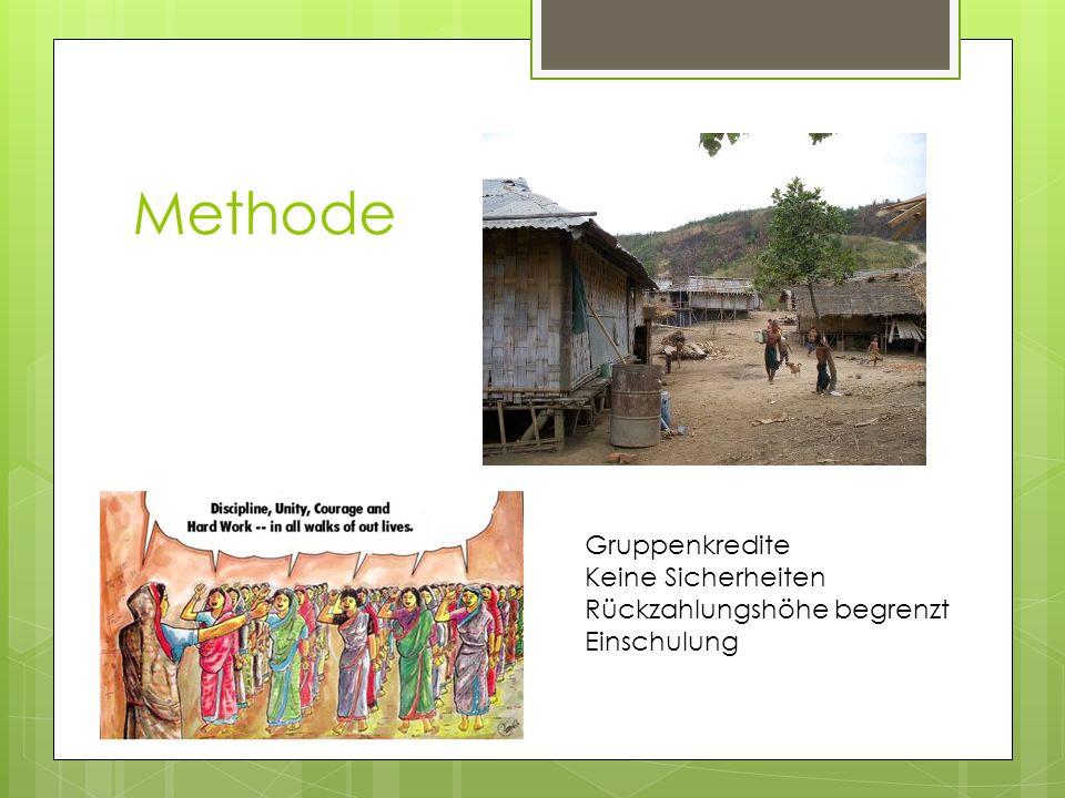 Verbesserungen für KreditnehmerInnen Trinkwasserversorgung Haus, Betten Latrine Schulbildung für die Kinder Kleidung und Mosquitonetze Anbau von Gemüse u.ä.