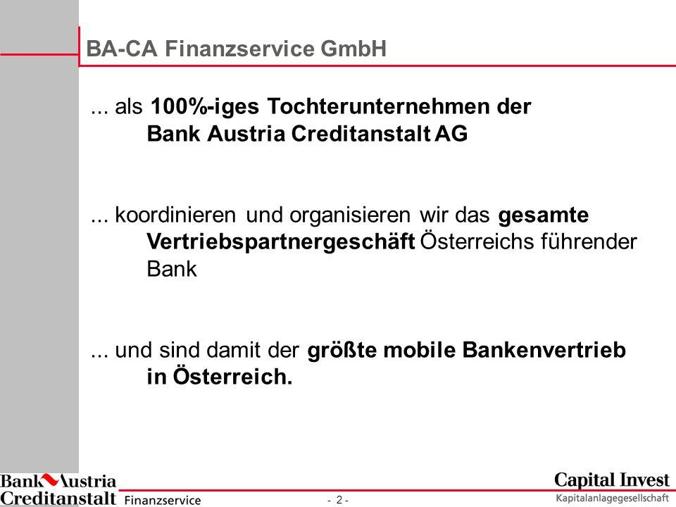 - 2 - BA-CA Finanzservice GmbH...