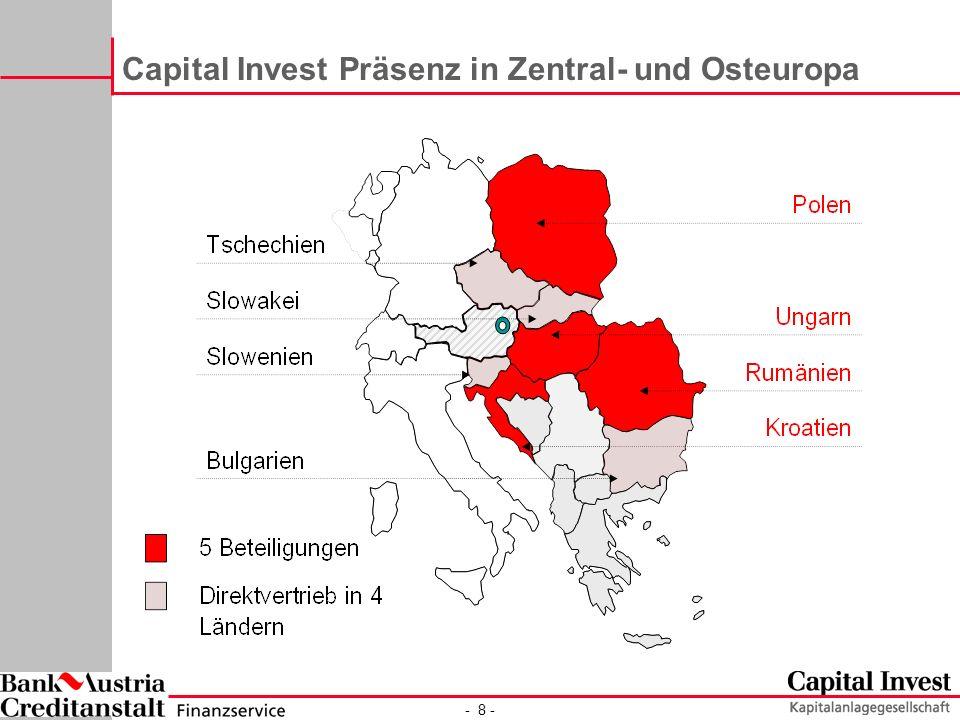 - 8 - Capital Invest Präsenz in Zentral- und Osteuropa