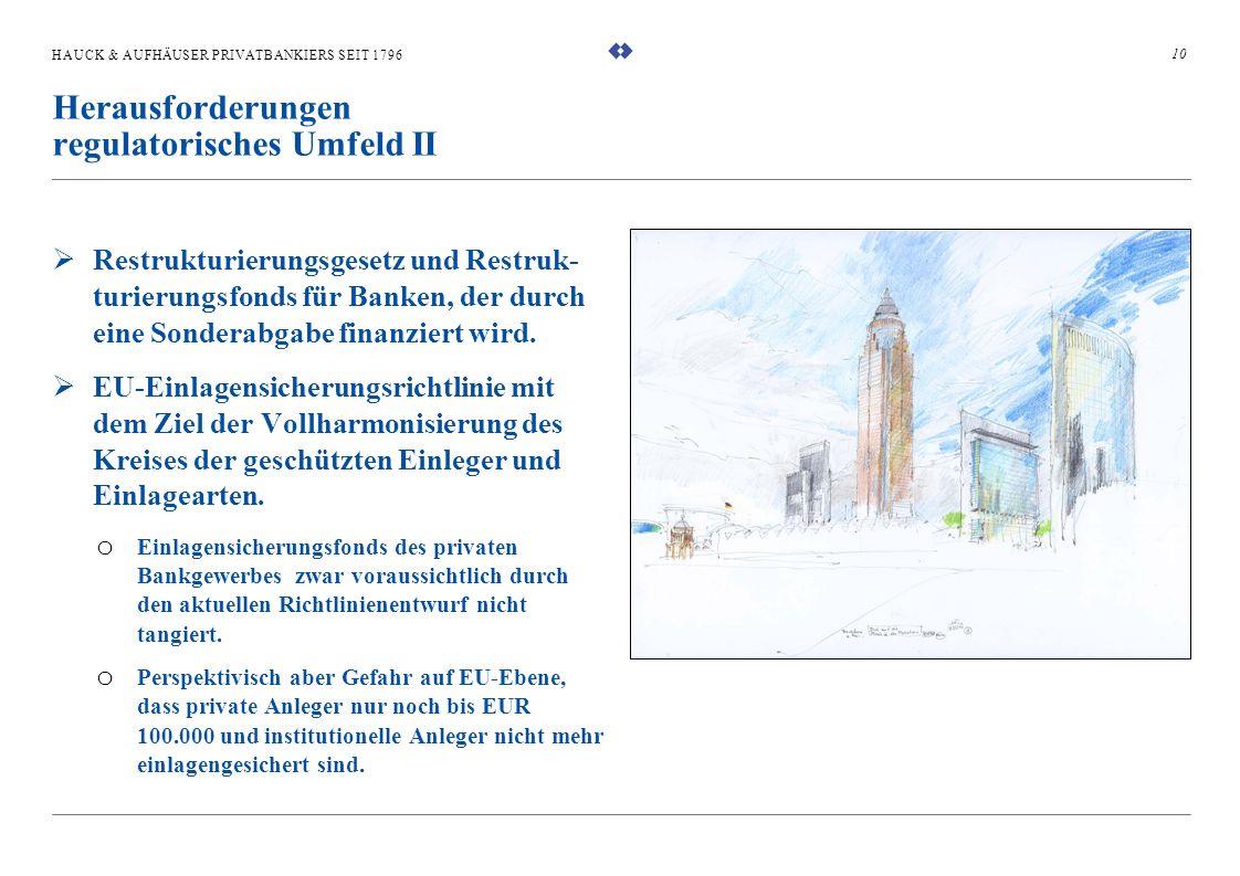 HAUCK & AUFHÄUSER PRIVATBANKIERS SEIT 1796 Restrukturierungsgesetz und Restruk- turierungsfonds für Banken, der durch eine Sonderabgabe finanziert wir