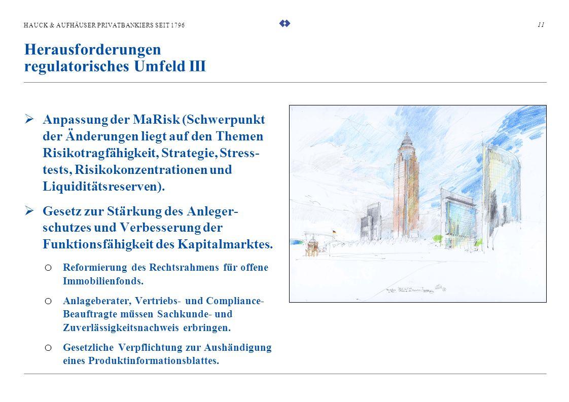 HAUCK & AUFHÄUSER PRIVATBANKIERS SEIT 1796 Anpassung der MaRisk (Schwerpunkt der Änderungen liegt auf den Themen Risikotragfähigkeit, Strategie, Stres