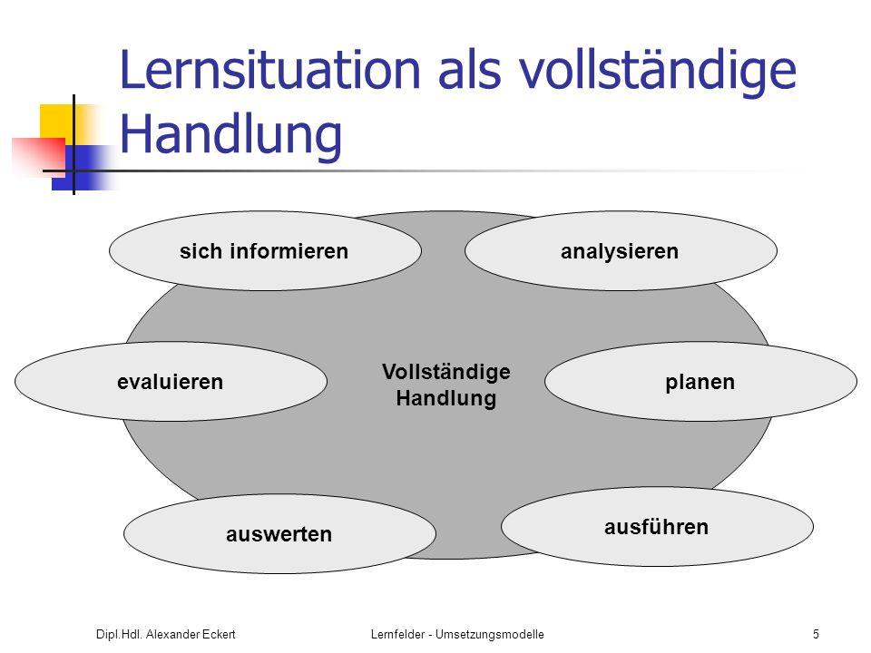 Dipl.Hdl.Alexander EckertLernfelder - Umsetzungsmodelle26 Projektdurchführung A.