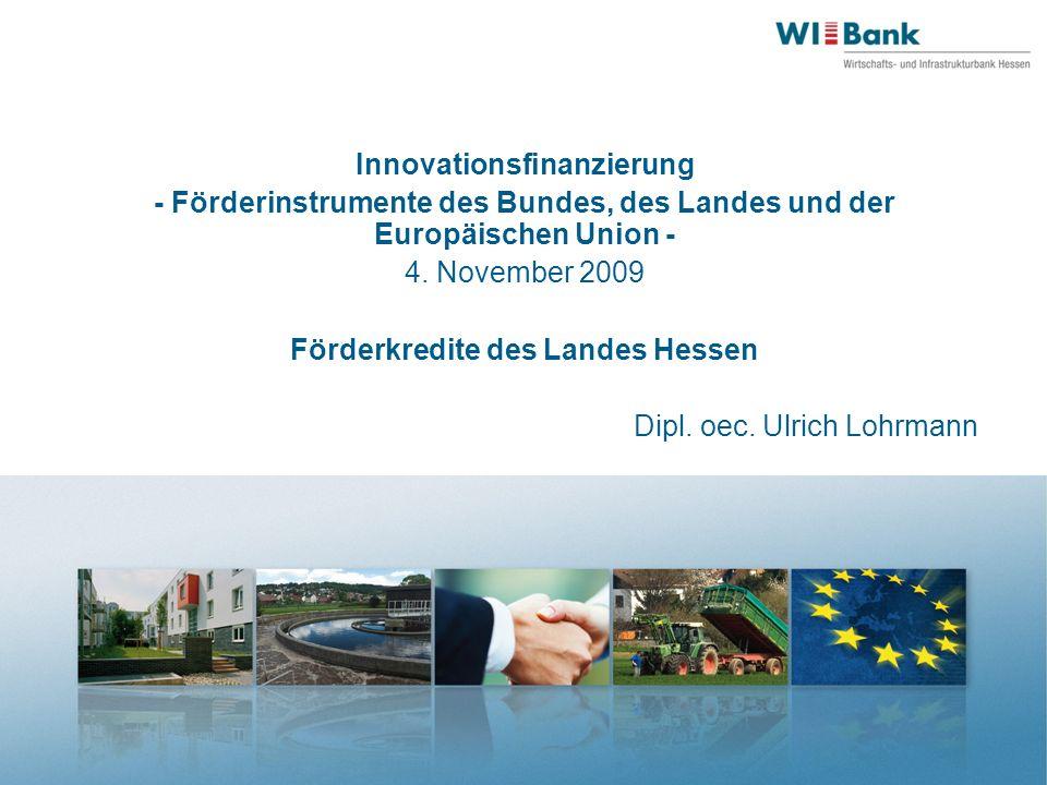 Innovationsfinanzierung - Förderinstrumente des Bundes, des Landes und der Europäischen Union - 4.