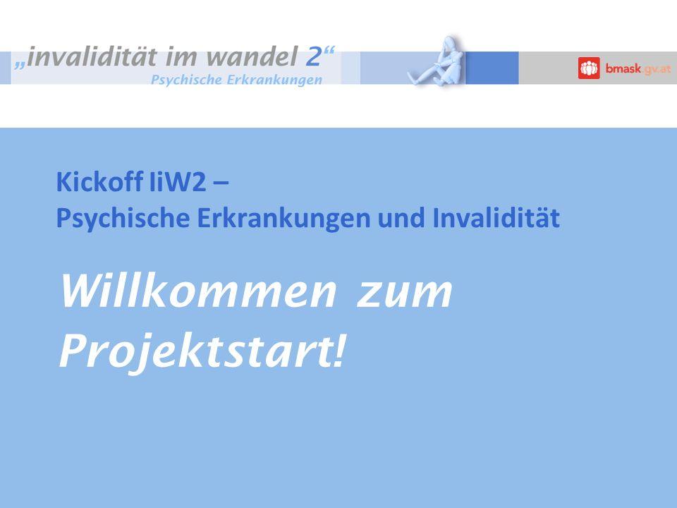 Willkommen zum Projektstart! Kickoff IiW2 – Psychische Erkrankungen und Invalidität