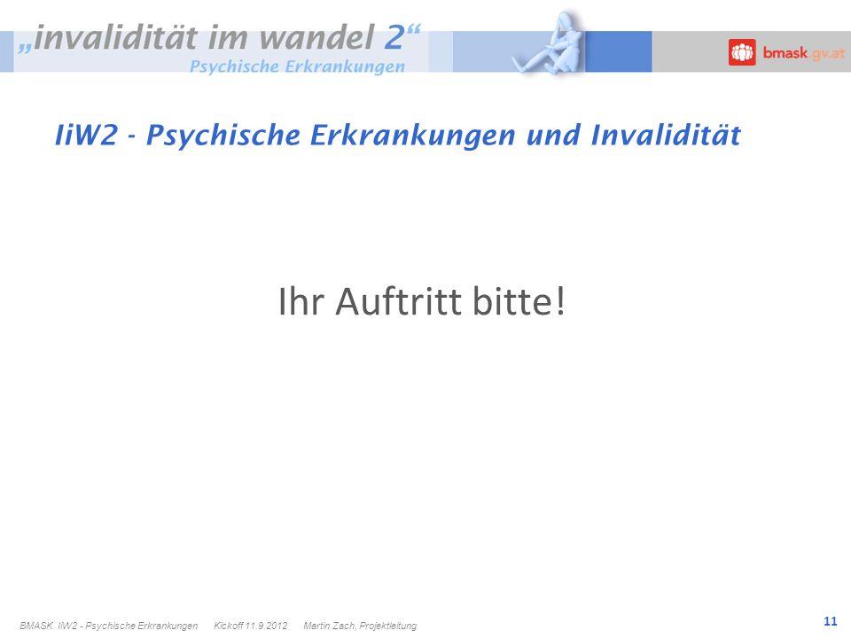 11 IiW2 - Psychische Erkrankungen und Invalidität Ihr Auftritt bitte.