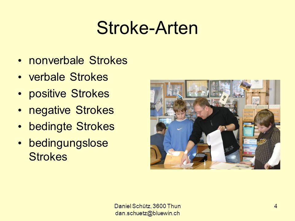 Daniel Schütz, 3600 Thun dan.schuetz@bluewin.ch 5 Strokes-Austausch Jede Transaktion (ob verbal oder averbal) stellt einen Austausch von Strokes dar.