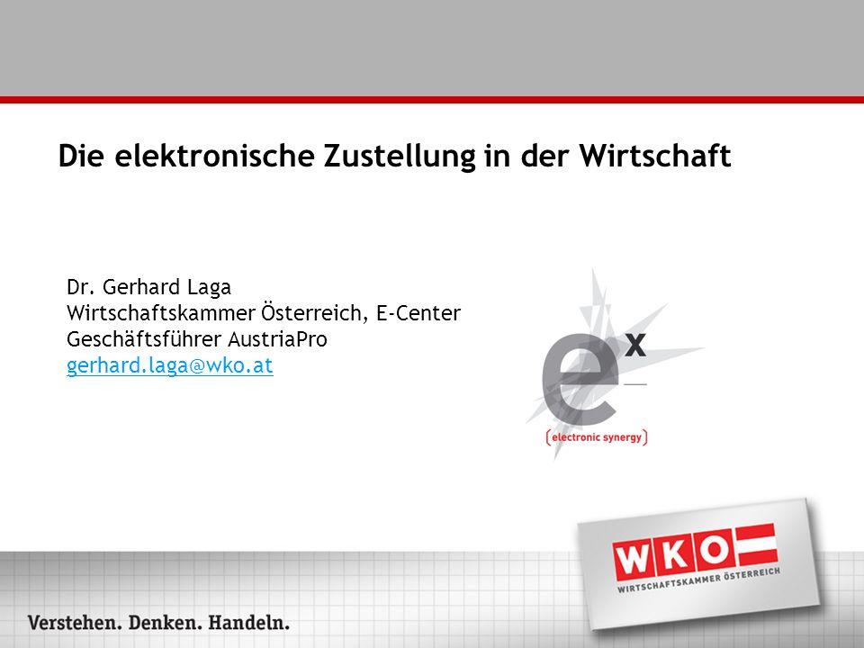 Einleitung - Definition E-Zustellung ist die sichere Übermittlung von elektronischen Dokumenten.